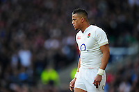 Anthony Watson of England looks on. RBS Six Nations match between England and Wales on March 12, 2016 at Twickenham Stadium in London, England. Photo by: Patrick Khachfe / Onside Images