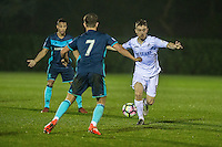 Monday  19 December 2014<br /> Pictured: Tom Holland of Swansea City in action <br /> Re: Swansea City U23 v Middlesbrough u23 at the Landore Training Facility, Swansea, Wales, UK