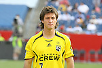 16 June 2007: Columbus's Guillermo Barros Schelotto (ARG).  The New England Revolution tied the Columbus Crew 3-3 at Gillette Stadium in Foxboro, Massachusetts in a regular season Major League Soccer 2007 game.