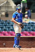 Lexington Legends catcher Chad Johnson (7) in the field during a game against the Hagerstown Suns on May 19, 2014 at Whitaker Bank Ballpark in Lexington, Kentucky.  Lexington defeated Hagerstown 10-8.  (Mike Janes/Four Seam Images)