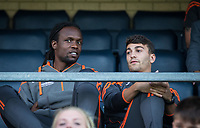 Marcus Bean & Scott Kashket sit out the match during the Friendly match between Wycombe Wanderers and AFC Wimbledon at Adams Park, High Wycombe, England on 25 July 2017. Photo by Andy Rowland.