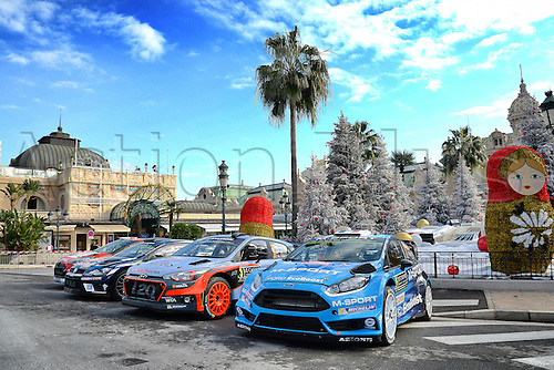 21.01.2016. Monte Carlo, Monaco. The Monte Carlo Rally 2016. The presentation of the cars and drivers in Monaco.  Cars on display
