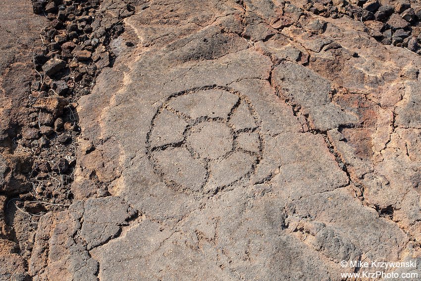 Petroglyphs at the Waikoloa Petroglyph Field, Big Island, Hawaii
