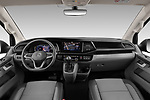 Stock photo of straight dashboard view of 2020 Volkswagen Caravelle Highline 5 Door Passenger Van Dashboard