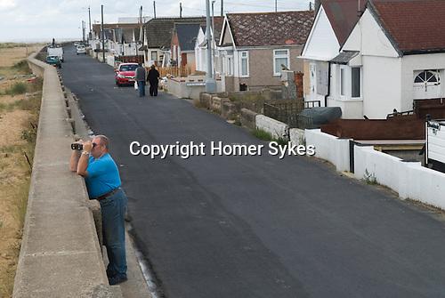 Jaywick Essex Uk. Senior oap male poverty in coastal town. 2013