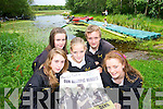 POSTER BOYS: Aoife Cooper, Shauna O'Sullivan, Katherine Cremin, Tim O'Shea and Jenny McCarthy of Muckross.Rowing Club, showing support for Kerry's Olympic hopefuls at Muckross on Wednesday.