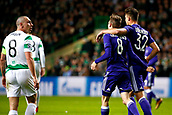 5th December 2017; Glasgow, Scotland;  Pieter Gerkens midfielder of RSC Anderlecht scores and celebrates  during the Champions League Group B match between Celtic FC and Rsc Anderlecht
