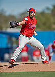 6 March 2019: Philadelphia Phillies pitcher Austin Davis on the mound during a Spring Training game against the Toronto Blue Jays at Dunedin Stadium in Dunedin, Florida. The Blue Jays defeated the Phillies 9-7 in Grapefruit League play. Mandatory Credit: Ed Wolfstein Photo *** RAW (NEF) Image File Available ***