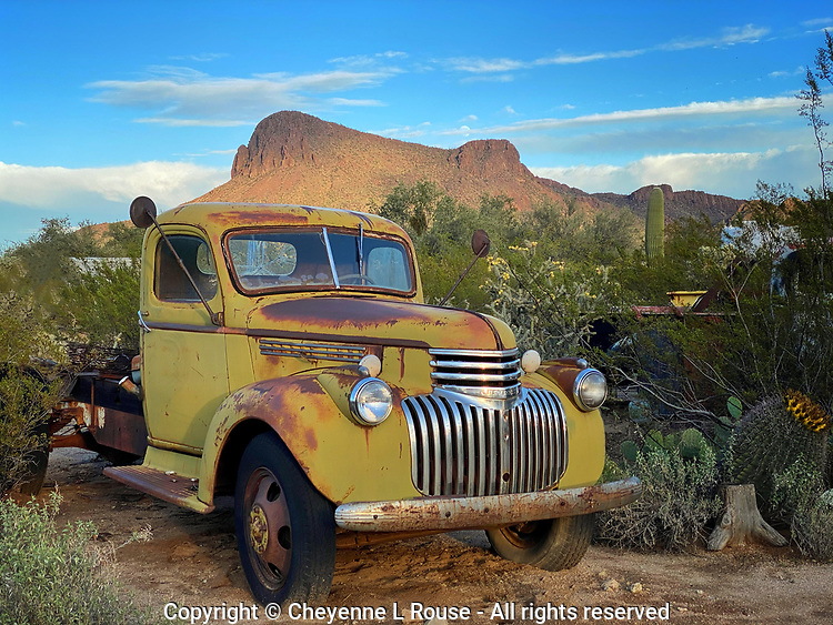 Picture Rocks Relic - Arizona - Chevy truck