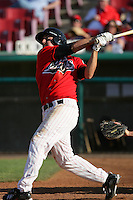 April 18, 2010: Scott Savastano of the High Desert Mavericks during game against the Lake Elsinore Storm at Mavericks Stadium in Adelanto,CA.  Photo by Larry Goren/Four Seam Images