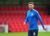 Preston North End's Andy Boyle during the pre-match warm-up <br /> <br /> Photographer Kevin Barnes/CameraSport<br /> <br /> The Carabao Cup - Accrington Stanley v Preston North End - Tuesday 8th August 2017 - Crown Ground - Accrington<br />  <br /> World Copyright &copy; 2017 CameraSport. All rights reserved. 43 Linden Ave. Countesthorpe. Leicester. England. LE8 5PG - Tel: +44 (0) 116 277 4147 - admin@camerasport.com - www.camerasport.com
