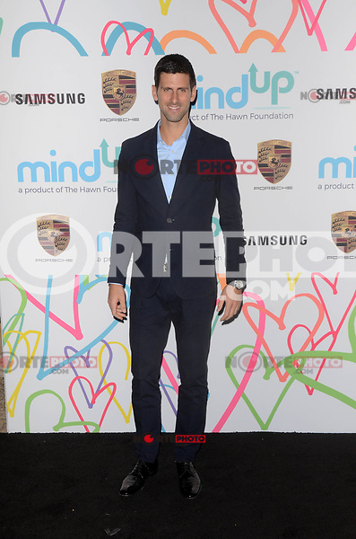 BEVERLY HILLS, CA - NOVEMBER 03: Novak Djokovic at Goldie's Love In For Kids at Ron Burkle's Green Acres Estate on November 3, 2017 in Beverly Hills, California. Credit: David Edwards/MediaPunch