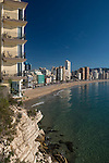 Levante beach, Benidorm, Alicante,Spain