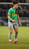 3rd January 2020; AJ Bell Stadium, Salford, Lancashire, England; English Premiership Rugby, Sale Sharks versus Harlequins;  Marcus Smith of Harlequins  - Editorial Use