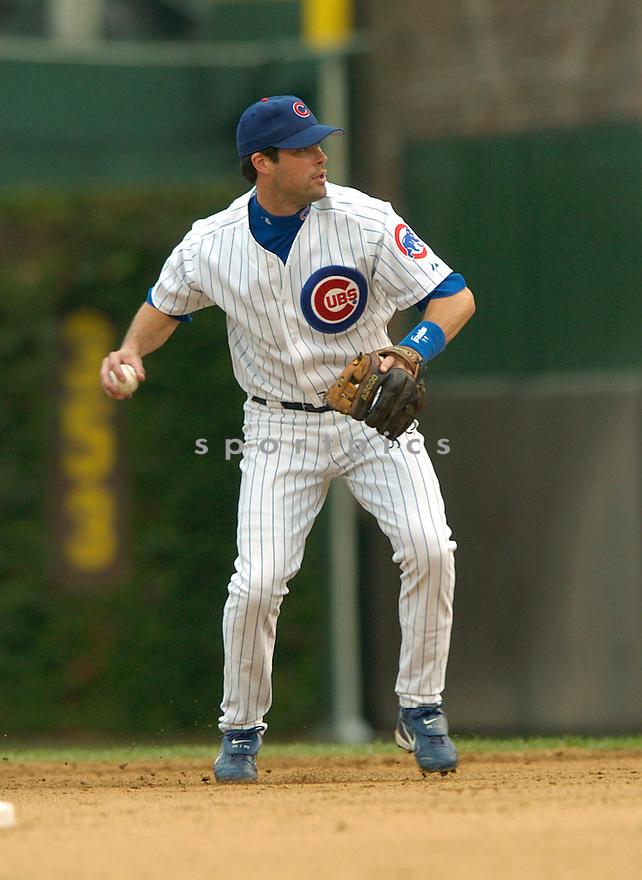 Mark Grudzielanek during a Chicago Cubs game 2004...David Durochik / SportPics