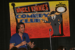 One Life To Live's Michael Easton on July 13, 2008 at Uncle Vinnie's Comedy Club in Point Pleasant, New Jersey. There was entertainment, q & a, and signing of photos and Michael's new book,. a graphic novel (which Melissa is holding) written by Michael and artwork by Christopher Shy. (Photo by Sue Coflin/Max Photos)