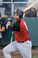 August 14, 2007: Catcher Tyler LaTorre of the Salem-Keizer Volcanoes batting during a Northwest League game against the Everett AquaSox at Everett Memorial Stadium in Everett, Washington.