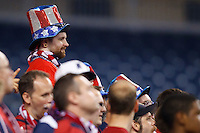 7 June 2011: USA fans during the CONCACAF soccer match between USA and Canada at Ford Field Detroit, Michigan. USA won 2-0.