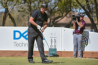 Phil Mickelson (USA) watches his tee shot on 8 during round 1 of the World Golf Championships, Dell Match Play, Austin Country Club, Austin, Texas. 3/21/2018.<br /> Picture: Golffile | Ken Murray<br /> <br /> <br /> All photo usage must carry mandatory copyright credit (&copy; Golffile | Ken Murray)