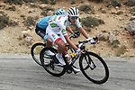 White Jersey Tadej Pogacar (SLO) UAE Team Emirates in action during Stage 17 of La Vuelta 2019  running 219.6km from Aranda de Duero to Guadalajara, Spain. 11th September 2019.<br /> Picture: Luis Angel Gomez/Photogomezsport | Cyclefile<br /> <br /> All photos usage must carry mandatory copyright credit (© Cyclefile | Luis Angel Gomez/Photogomezsport)