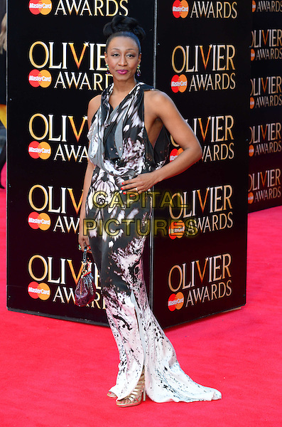LONDON, ENGLAND - APRIL 13:  Beverley Knight attends The Olivier Awards, the illustrious ceremony celebrating the very best in English theatre, at Royal Opera House, Covent Garden, on April 13, 2014, in London, England.<br /> CAP/JOR<br /> &copy;Nils Jorgensen/Capital Pictures