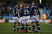Millwall players congratulate Aiden O'Brien after scoring their first goal during Millwall vs Preston North End, Sky Bet EFL Championship Football at The Den on 13th January 2018
