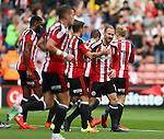 Matt Done of Sheffield Utd celebrates his goal during the League One match at Bramall Lane Stadium, Sheffield. Picture date: September 17th, 2016. Pic Simon Bellis/Sportimage