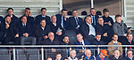 30.04.18 Glasgow Cup Final Rangers v Celtic : Brendan Rodgers of Celtic and Andrew Dickson and Mark Allen of Rangers