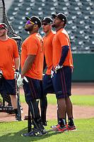 Jon Singleton (L), Carlos Correa (M), Domingo Santana (R) -2015 Fresno Grizzlies (Bill Mitchell)