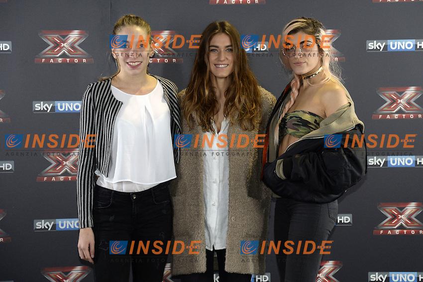 Db Milano 26/10/2016 - photocall trasmissione Tv 'X-Factor' / foto Daniele Buffa/Image/Insidefoto <br /> nella foto: Caterina Cropelli-Gaia Gozzi-Rossella Discolo Roshelle