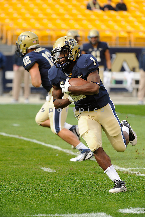 RAY GRAHAM, of the Pittsburgh Panthers, in action, during Pitt's game against the Utah Utes on October 15, 2011 at Heinz Field in Pittsburgh, PA. Utah beat Pitt 26-14.