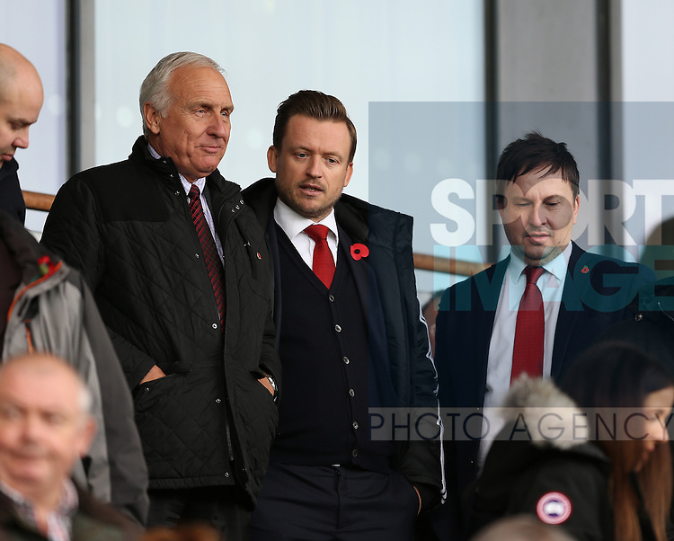 Co-Chairman kevin McCabe, Chief Executive Stephen Bettis and vice president Martin Green during the English League One match at the Proact Stadium, Chesterfield. Picture date: November 13th, 2016. Pic Simon Bellis/Sportimage