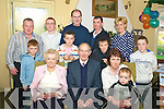 "Tim ""Shine"" Griffin, Ballinakilla, Glenbeigh, who celebrated his 80th birthday in Kate Kearneys on Sunday December 28th, pictured with his wife Cathy, Julie Healy, Thomas Healy, who celebrated his 2nd birthday on the same day, Ger and Jack Healy, Jim Griffin, Tony Griffin, Nicky griffin, Michael and Danny Healy, Dominic and Joshua Griffin."