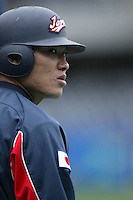 Kosuke Fukudome of Japan during World Baseball Championship at Petco Park in San Diego,California on March 20, 2006. Photo by Larry Goren/Four Seam Images