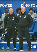 Newcastle United manager Steve Bruce & assistant Steve Agnew during the Premier League match between Leicester City and Newcastle United at the King Power Stadium, Leicester, England on 29 September 2019. Photo by Andy Rowland.