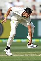 27th December 2019; Melbourne Cricket Ground, Melbourne, Victoria, Australia; International Test Cricket, Australia versus New Zealand, Test 2, Day 2; Mitchell Starc of Australia bowls - Editorial Use