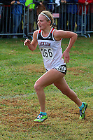 Jackson senior Megan Barnum runs to a 29th-place finish to help Jackson to the Class 4 team title at the 2016 State Cross Country Championships in Jefferson City, Saturday, November 5.