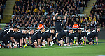 Piri Weepu leads the haka. All Blacks beat Australia 22-0. Eden Park, Auckland. 25 August 2012. Photo: Marc Weakley