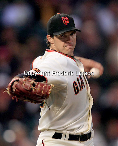Barry Zito the starting pitcher for the San Francisco Giants pitches against the visiting Colorado Rockies at AT&T Park in San Francisco, Calif., on September 15, 2009. Ran on: 09-16-2009 Barry Zito held the Rockies to two runs on five hits in seven innings. The lefty struck out nine. Ran on: 09-16-2009 Barry Zito held the Rockies to two runs on five hits in seven innings. The lefty struck out nine.""