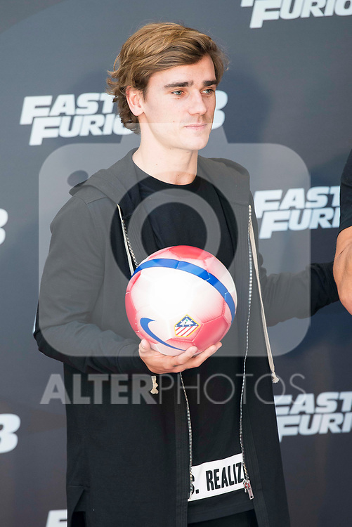 Atletico de Madrid's Antoine Griezmann during the presentation of the film &quot;Fast &amp; Furious 8&quot; at Hotel Villa Magna in Madrid, April 06, 2017. Spain.<br /> (ALTERPHOTOS/BorjaB.Hojas)