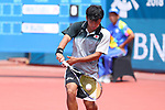 Hayato Funemizu (JPN), <br /> AUGUST 28, 2018 - Soft Tennis : <br /> Men's Singles Preliminary Round <br /> at Jakabaring Sport Center Tennis Courts <br /> during the 2018 Jakarta Palembang Asian Games <br /> in Palembang, Indonesia. <br /> (Photo by Yohei Osada/AFLO SPORT)