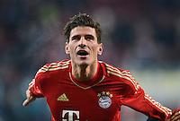 FUSSBALL   1. BUNDESLIGA  SAISON 2012/2013   16. Spieltag FC Augsburg - FC Bayern Muenchen         08.12.2012 Jubel  Mario Gomez (FC Bayern Muenchen)