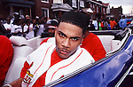 "Nelly aka Cornell Iral Haynes, Jr. on the set of the ""Country Grammar"" video shoot in St. Louis, MO., in March 1999.  Photo credit:  Presswire News/Elgin Edmonds"