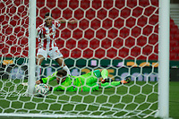 Ramadan Sobhi of Stoke City scores his sides 4th goal during the Carabao Cup match between Stoke City and Rochdale at the Bet365 Stadium, Stoke-on-Trent, England on 23 August 2017. Photo by James Williamson / PRiME Media Images.