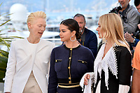 CANNES, FRANCE. May 15, 2019: Tilda Swinton, Selena Gomez &amp; Chloe Sevigny at the photocall for &quot;The Dead Don't Die&quot; at the 72nd Festival de Cannes.<br /> Picture: Paul Smith / Featureflash