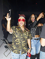"LOS ANGELES,CA - OCTOBER 16: Rapper Da Brat and Babs Bunny attend the ""Queen of The Ring"" Rap Battle at Ben Kitay Studios in Los Angeles, California on October 16, 2016. Credit: Koi Sojer/Snap'N U Photos/MediaPunch"