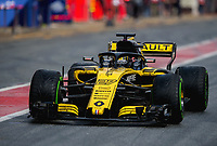 NICO HULKENBERG (GER) of Renault Sport Formula One Team during Day 2 of the 2018 Formula 1 Testing at the Circuit de Catalunya, Barcelona. on 27 February 2018. Photo by Vince  Mignott.