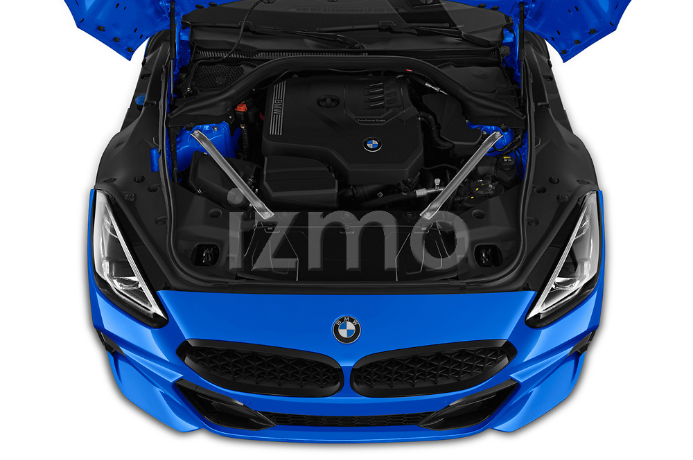 Car stock 2020 BMW Z4 Base 2 Door Convertible engine high angle detail view