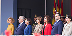 Meritxell Batet, non identified man, Carmen Calvo, Dolores Delgado, Maria Jesus Montero, Jose Luis Abalos and Magdalena Valerio during the Military parade because of the Spanish National Holiday. October 12, 2019.. (ALTERPHOTOS/ Francis Gonzalez)