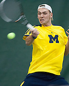 The University of Michigan men's tennis team beat TCU, 4-3, at the Varsity Tennis Center in Ann Arbor, Mich., on January 19, 2013.